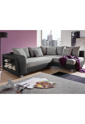 Canapé d'angle Simili et tissu