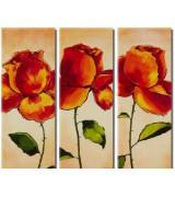 Tableau triptyque Roses