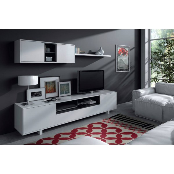 meuble tv mural belus odesign. Black Bedroom Furniture Sets. Home Design Ideas