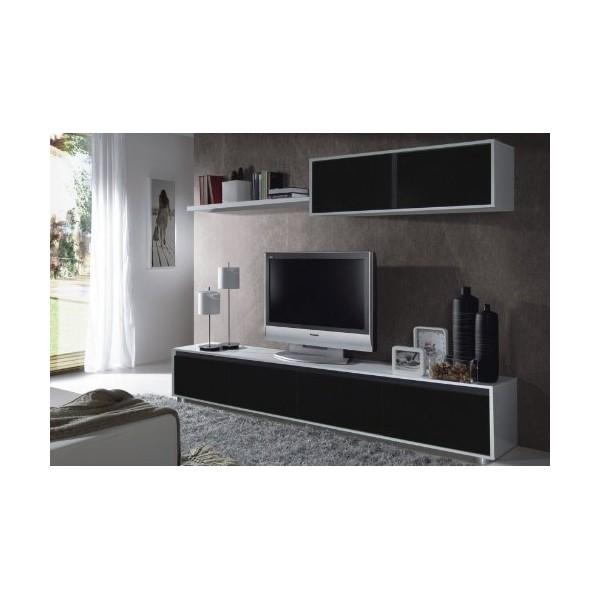 Meuble tv noir et blanc alinea - Meuble blanc et noir ...