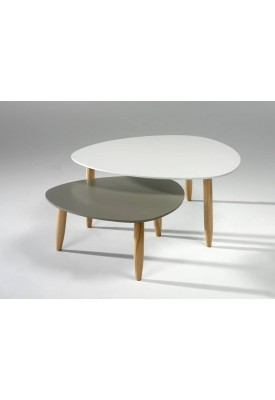 Table gigogne BEDA BLANC/GRIS