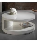 Table basse ronde en bois H34cm