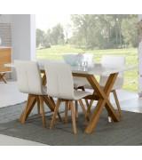 Table à manger en bois massif Groove