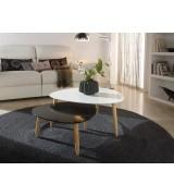 Table gigogne BEDA blanc/noir