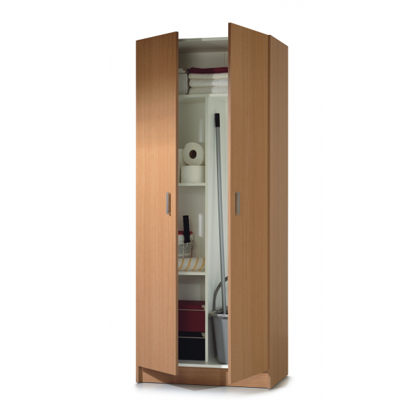 Pin armoire rangement balais 2 portes bilbao on pinterest for Rangement balai