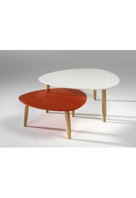 Tables gigognes Rouge/Blanc