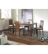 Table à manger extensible en bois